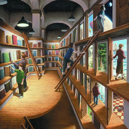 Written Worlds by Rob Gonsalves