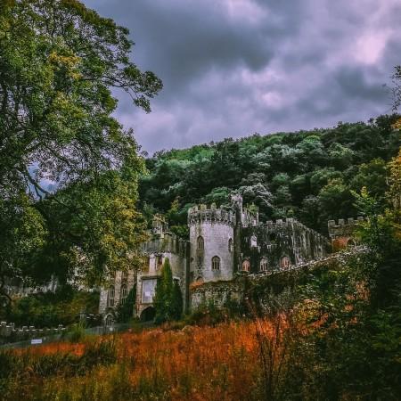 Ancient autumn castle