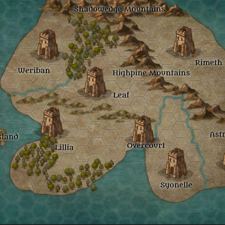 Map of the lands from the Lost Island story