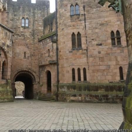 Inner Courtyard Alnwick Castle by Derek Voller