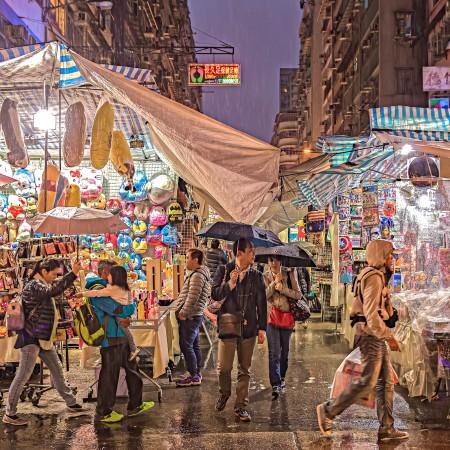 Rainy night at the Ladies Market Hong Kong by johnlsl on Flickr